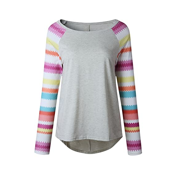 WanYang Mujer Otoño Invierno Moda Casual Sudadera Señoras Blusa De Manga Larga Tops Ropa Camiseta: Amazon.es: Ropa y accesorios