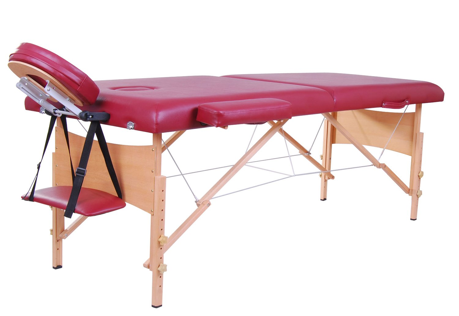 Soozier 91inches Portable Massage Table Bed Couch Spa Bed Foldable Wooden w/ Case (Black) + Carrying Bag Aosom Canada
