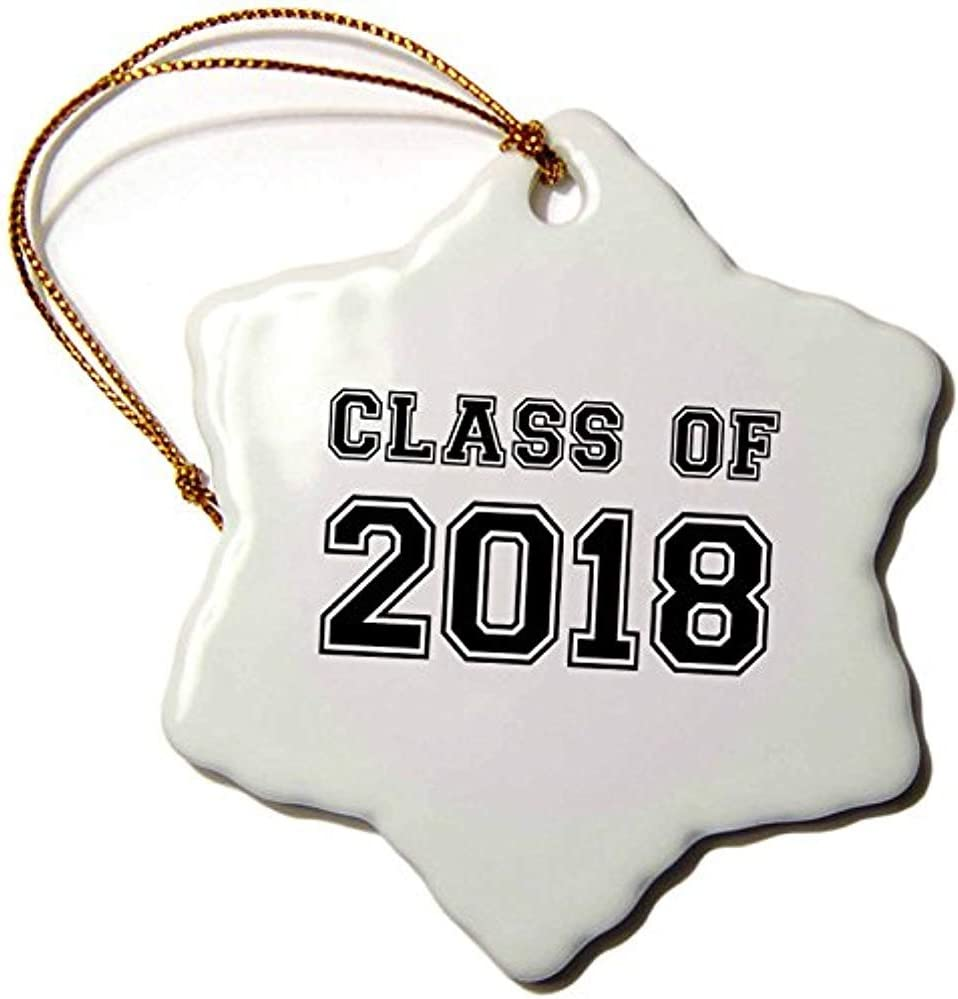 Bowen Rhodes Inspirationzstore Typography - Class Of 2018 - Graduation Gift - Graduate Graduating High School University Or College Grad Black
