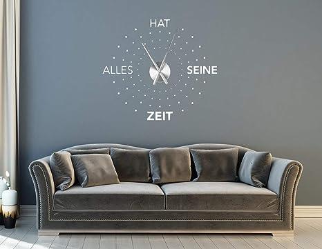 tjapalo® a31 Wanduhr Wohnzimmer Wandtattoo Uhr Wandaufkleber ...