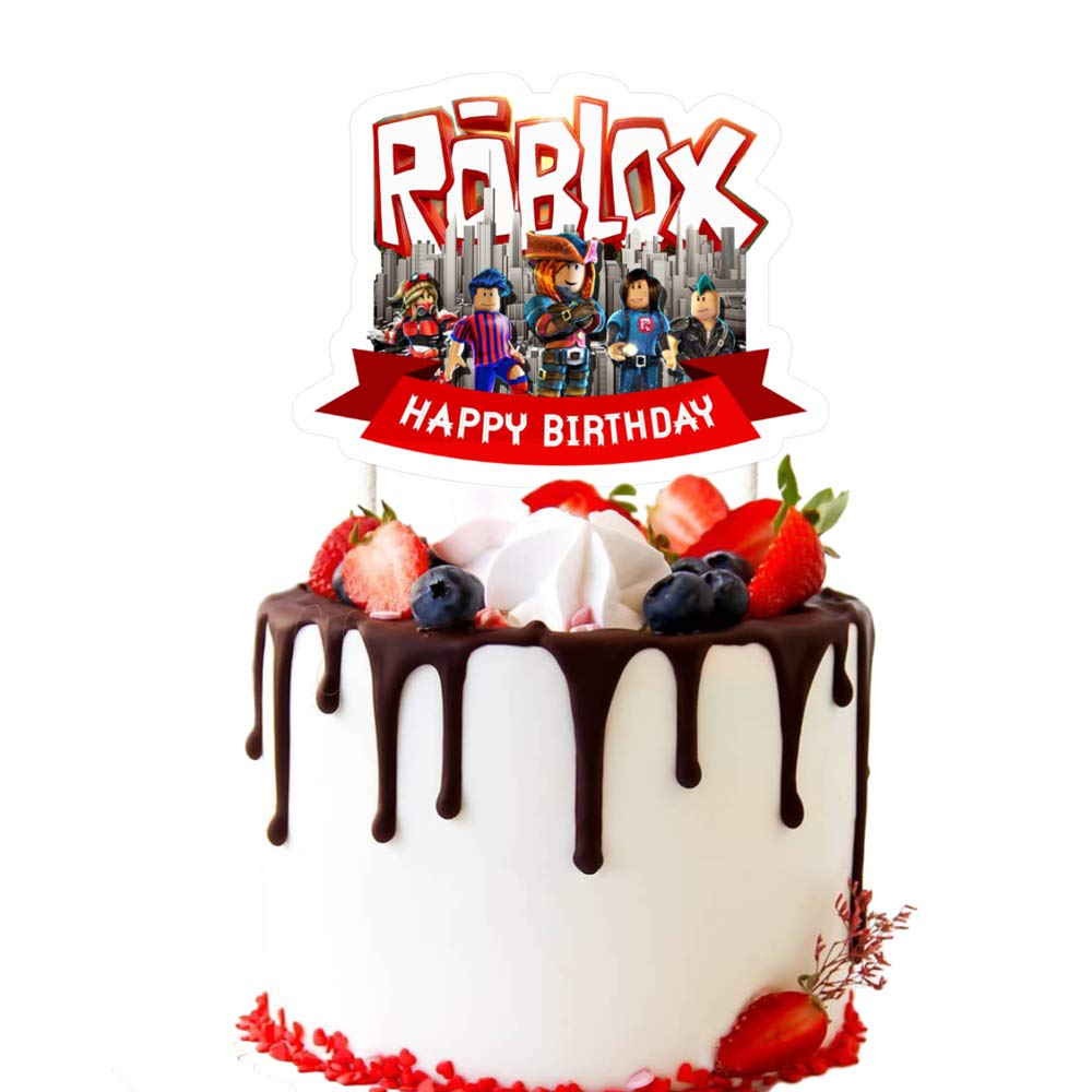 Prime Cake Decorations For Roblox Cake Topper Birthday Party Supplies Personalised Birthday Cards Paralily Jamesorg