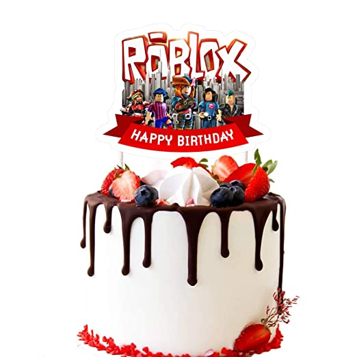 Easy Roblox Birthday Cake Ideas Cake Decorations For Roblox Cake Topper Birthday Party Supplies Amazon Com Grocery Gourmet Food