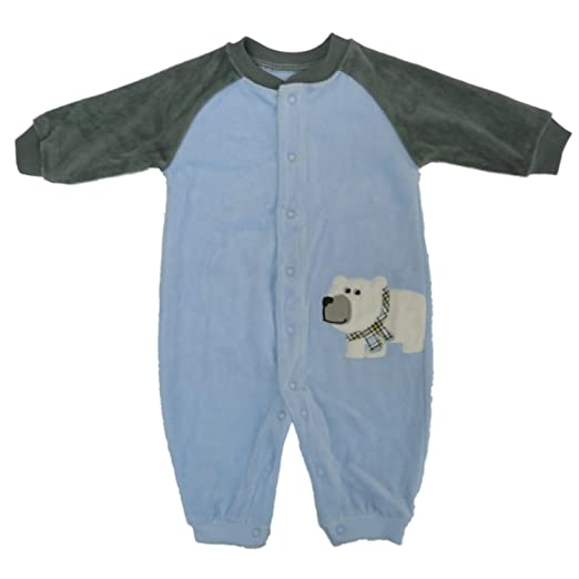 81ac77ec1 Amazon.com  Carter s Baby Boys  Infant Velour Jumpsuit Polar Bear ...