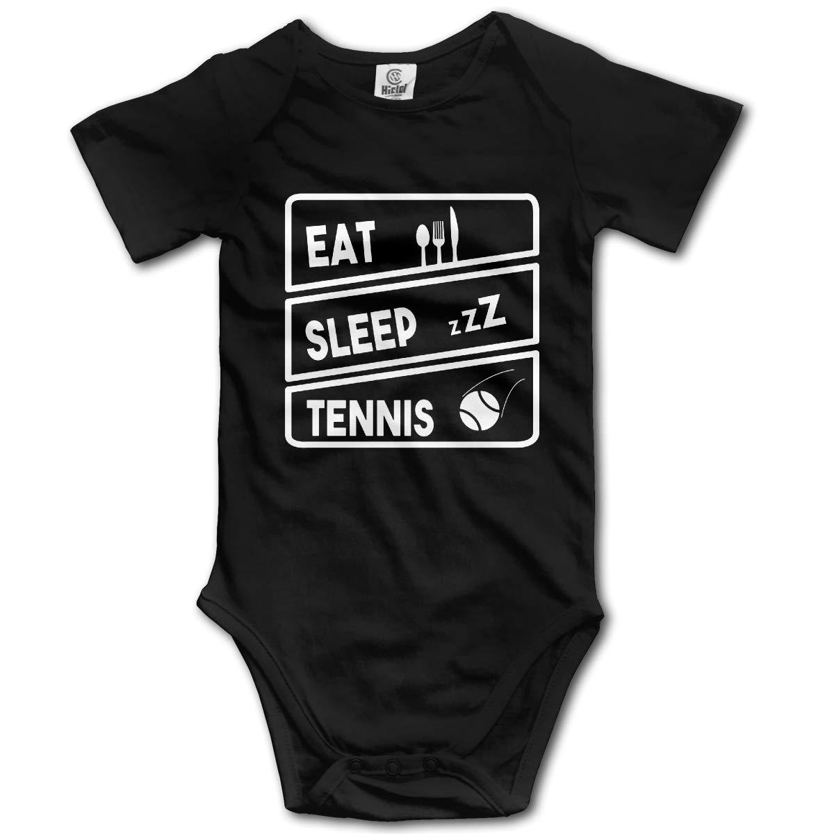 LOSPAPA Eat Sleep Tennis Baby Short Sleeve Romper Onesie Bodysuits for 0-24m Newborn Baby