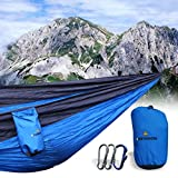 High quality with a reasonable price, perfect choice for cost-conscious traveler, coming with a life-long warranty (excluding artificially damages) and best custom support. High fiber breathable 210T nylon of 550-pound capacity. Braided nylon rope re...
