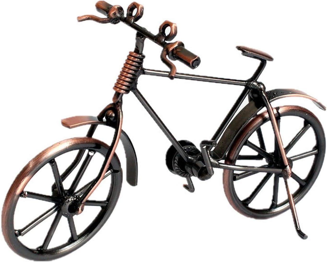 LUOWAN Home Decoration Retro Metal Bike Model Craft Bicycle Figurine for Friend Gifts Children Birthday Toy Present Desktop Crafts Creative (Z1, 18x7x12cm)