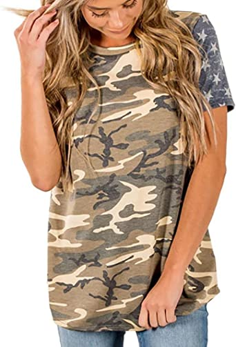 Moda Mujer Camisa tira bandera americana, yumm Camiseta Mujer sciolto Impresión Chaqueta Manga Corta Playa Niña, Camisole canotte y Top, Bluse y camisas, Verano Camisa Camisa, camiseta de algodón, camisetas: Amazon.es: Iluminación
