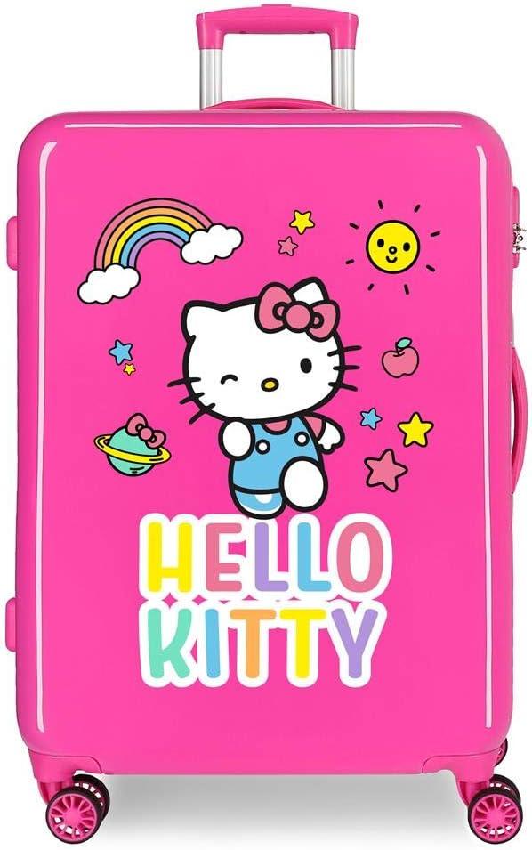 Maleta Mediana HELLO KITTY You Are Cute rígida 68cm Fucsia