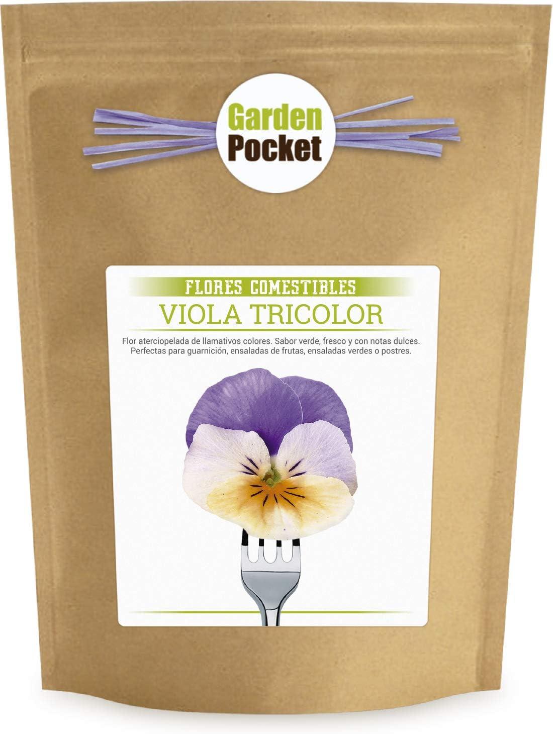Kit cultivo Flores Comestibles - Pensamientos: Amazon.es: Jardín