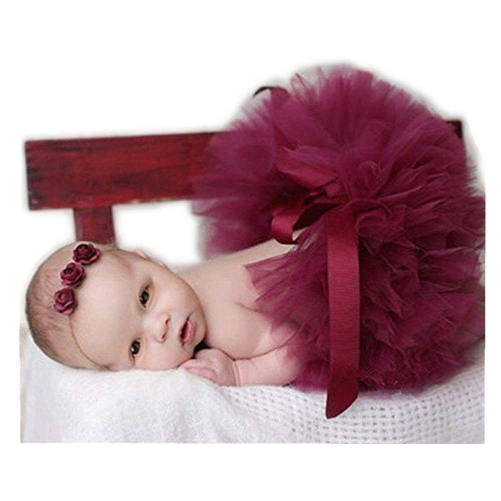 Newborn Baby Photo Props Tutu Dress Outfits Photography Shoot Clothing for Boys Girls (Light Purple) Vemonllas JNA-014