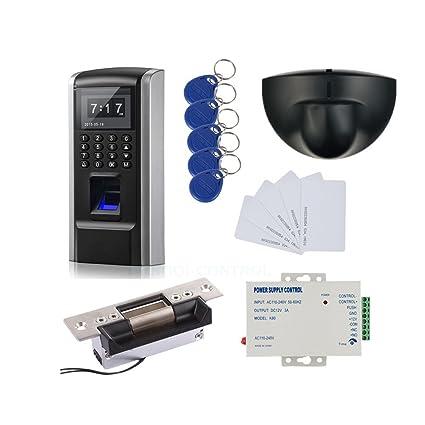 Bio Fingerprint & RFID Sistema de Control de Acceso Kit & Exit Sensor de Movimiento y