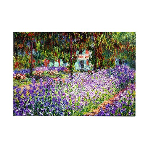 Magnet Rectangle Garden (CafePress - Monet - Irises in Garden Rectangle Magnet - Rectangle Magnet, 2