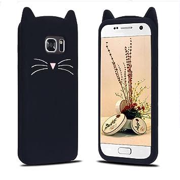 Funda Samsung S7 Edge, Carcasa Galaxy S7 Edge, RosyHeart Patrón de Gato Suave TPU Silicona Funda para Samsung Galaxy S7 Edge Ultrafina Parachoques ...