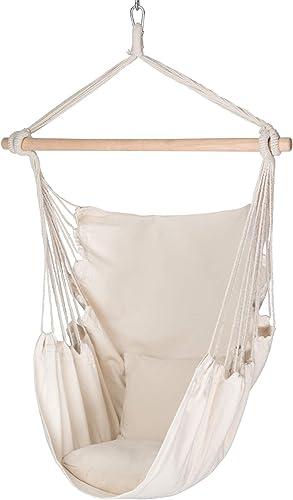 Decorlife Hammock Chair Hanging Rope Swing