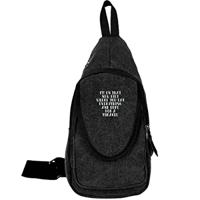 66116f5b0883 ... Cross Body New Style Men Canvas Chest Bags 80%OFF. I m On That New Diet  Where You Eat Everything And Hope For A Miracle