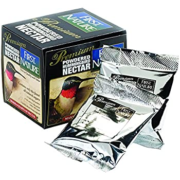 First Nature 3208 Powdered Red Hummingbird Nectar Concentrate 5.3-ounce Packets (FD&C red 40), 6-pack