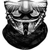 Seamless Neck Gaiter Shield Scarf Bandana Face Mask Seamless UV Protection for Motorcycle Cycling Riding Running…