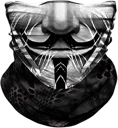 Unisex Rave Bandana Neck Gaiter Tube Headwear For Women Men Face Scarf Bicycle Bike Face Shield Mask Riding Neck Headwear One Size 6