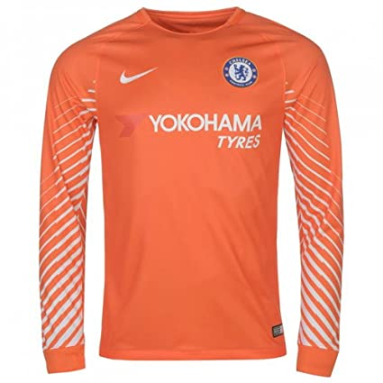 d585ac113 Nike 2017-2018 Chelsea Home Goalkeeper Football Soccer T-Shirt Jersey  (Orange)
