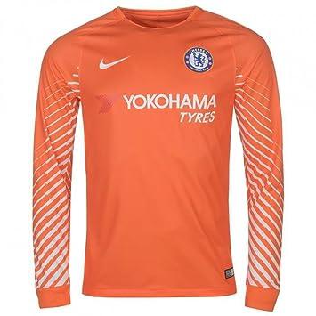Nike 2017-2018 Chelsea Home Goalkeeper Football Soccer T-Shirt (Orange) - 38d44d288
