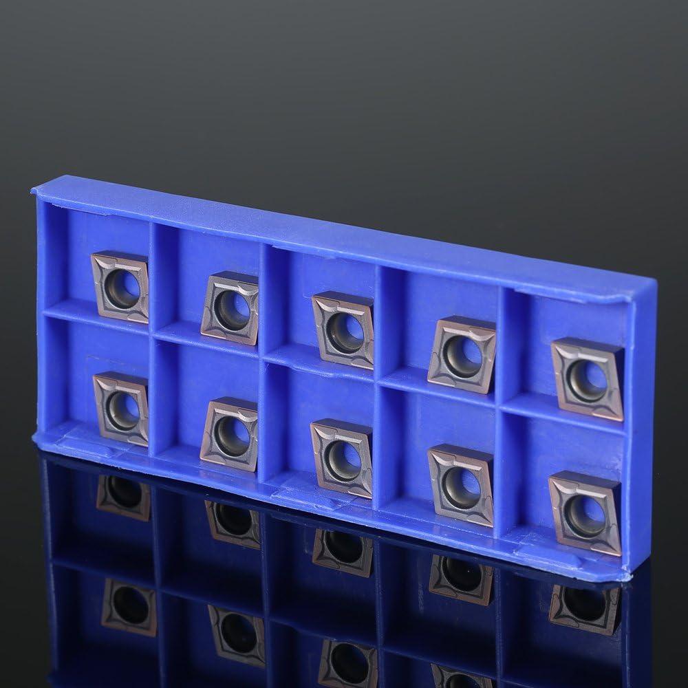 10 teile//schachtel CCMT09T304 VP15TF Wendeschneidplatten CCMT 09 T3 CCMT32.51 Drehmaschine CNC Klingen Fr/äsen Drehwerkzeug