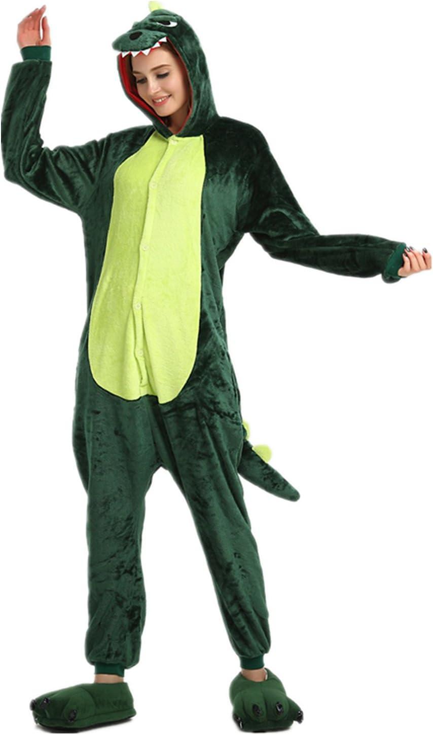 Kenmont Unicornio Juguetes y Juegos Traje Disfraz Animal Ropa de Dormir Cosplay Disfraces Pijamas para Adulto Niños (S: 148-160CM, Dinosaurios)