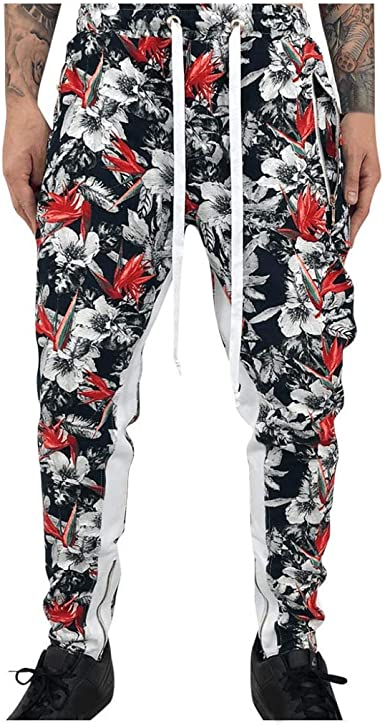 Mens Breathable Long Pajama Pants Stretch Skinny Trousers Casual Home Leggings