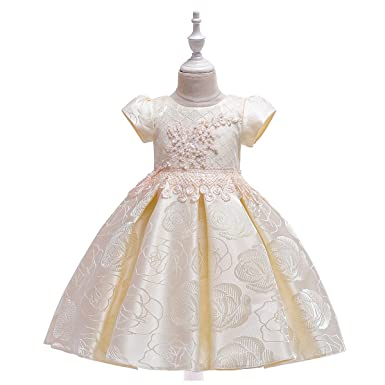 LADYLUCK Vestido De Niñas Vestido De Princesa De Satén ...