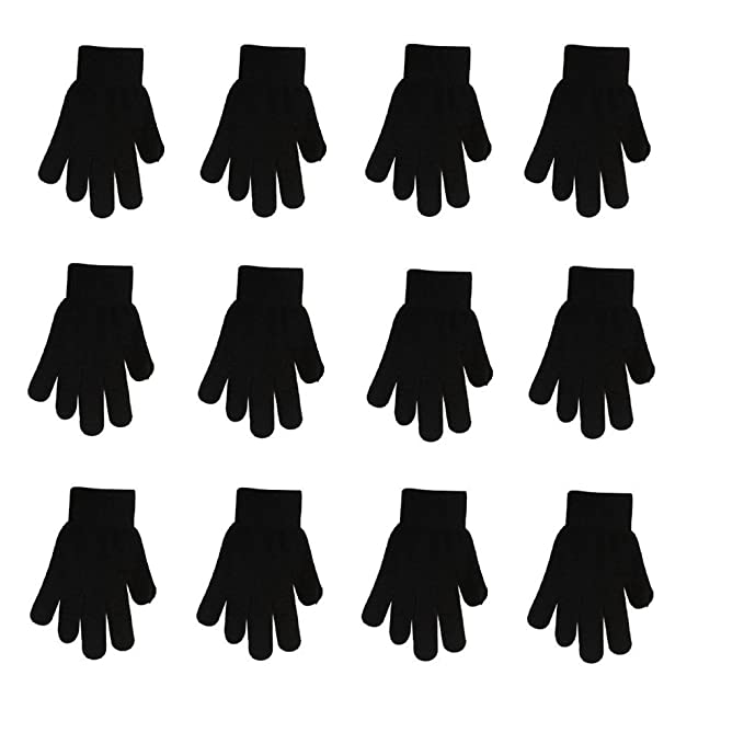 4d6bcb6fd62 Winter Gloves Black Magic Gloves Wholesale 12 Pairs- One Size Fits Most  (black)