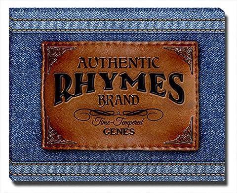 Rhymes 'Genes' Gallery-Wrapped Canvas Print (Cvs Rhymes)