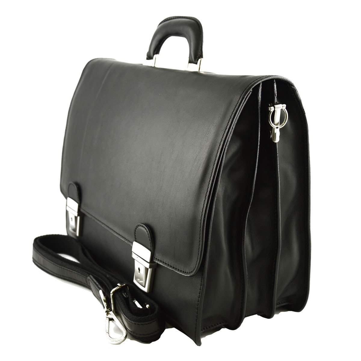 Genuine Leather Business Bag Color Black