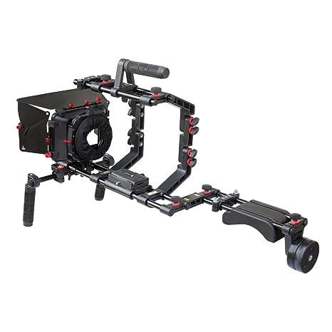 FILMCITY hombro Soporte Rig kit con la jaula de la cámara, caja ...