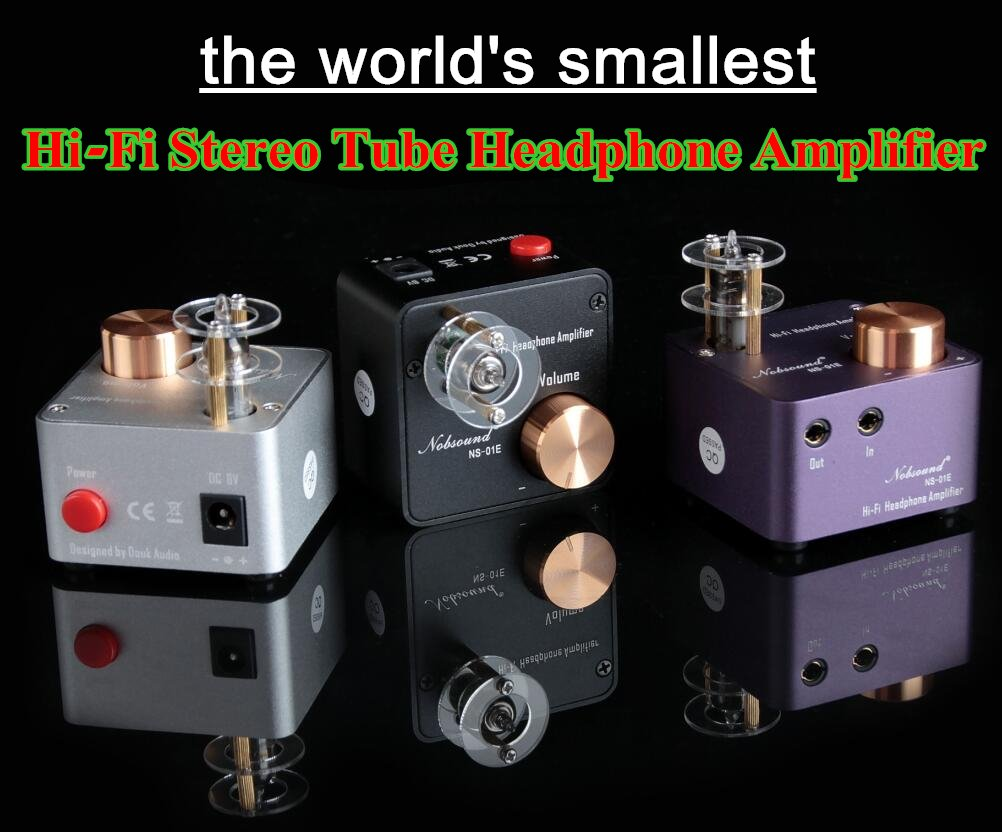Nobsound Ns 01e Mini Tube Headphone Amplifier Stereo Volume Control In Electrical Engineering Hifi Amp Audio Preamp Purple Home Theater