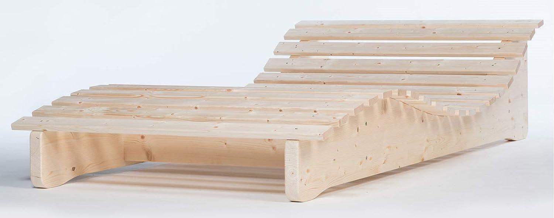 TUGA - Holztech Naturholz Massive wetterfeste extrem Stabile stehende Liege Relaxliege Massivholzliege Liege Formliege LIEGELÄNGE ca. 205cm 90cm Breite