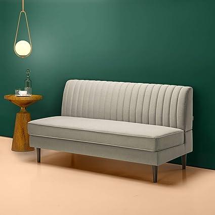 Amazoncom Zinus Jocelyn Contemporary 65 Inch Armless Sofa Beige