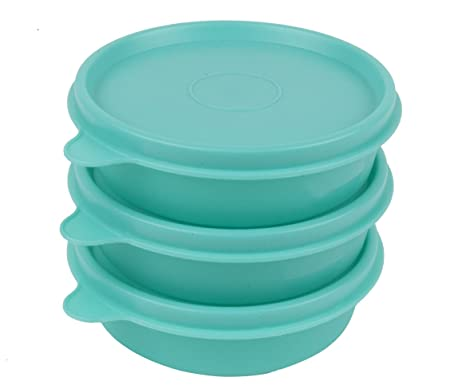 Polyset Magic Seal SO3 Round Container, Green Jars   Containers