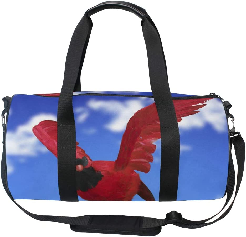 Duffel Bag Flying Red Bird Women Garment Gym Tote Bag Best Sports Bag for Boys