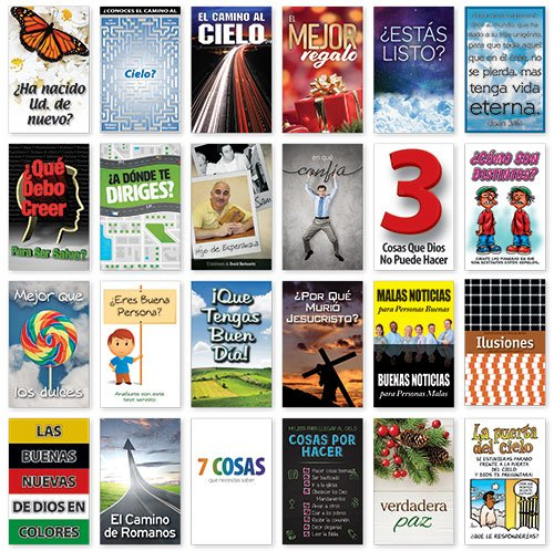 Amazon com : Gospel Tracts Sample Pack (Spanish) : Everything Else