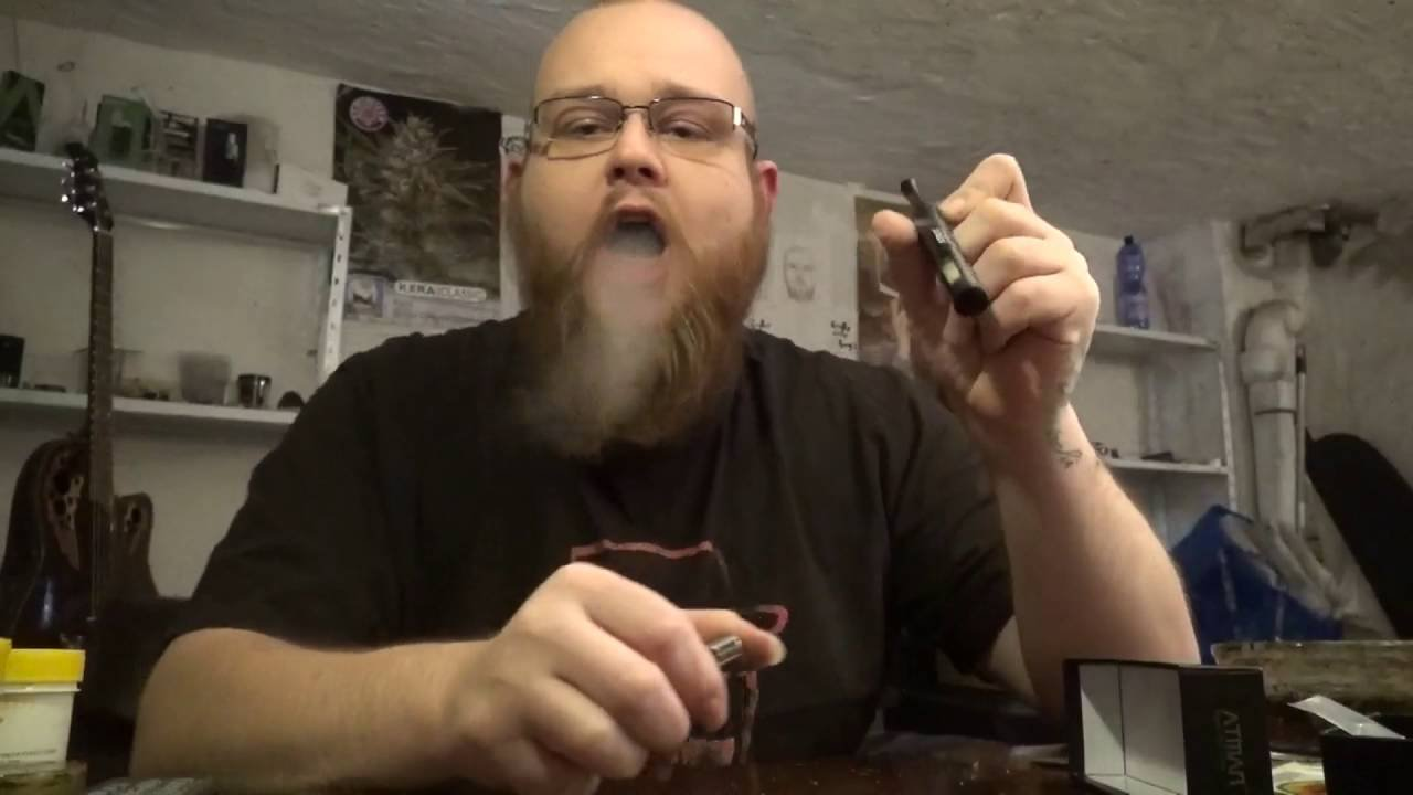 ATMAN Mantis Rauchen Rohr für trockenes Kraut und Tabak und Unkraut, 119mm Perfekte modische Aluminium Portable Zündung Vaporizer Pen Kein Nikotin-Schwarz