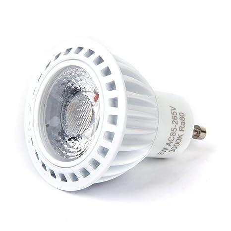 Blanco cálido 5 W Bombilla LED COB GU10 Spotlight – blanco