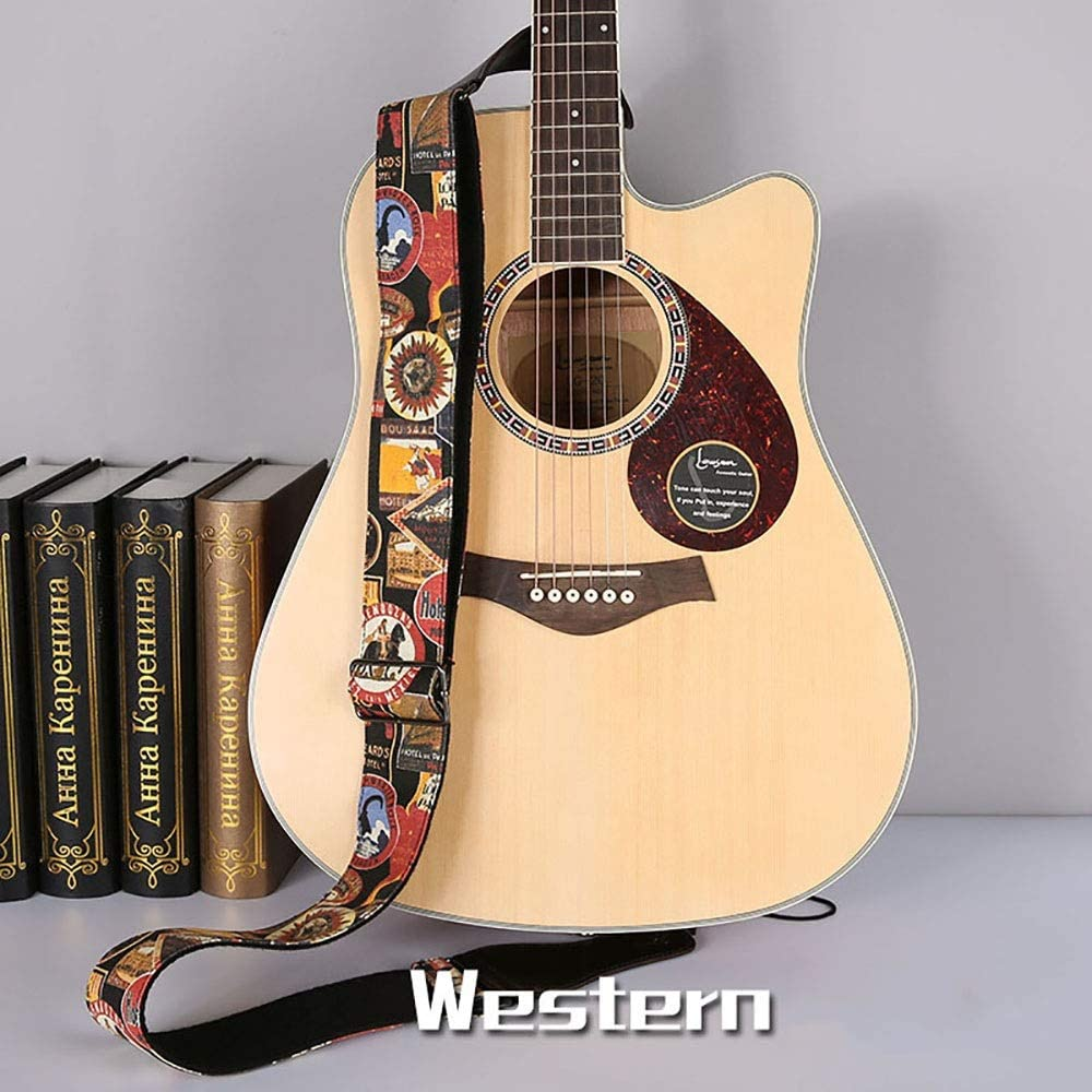 Correa de guitarra Dril de algodón tejido jacquard correa de la ...