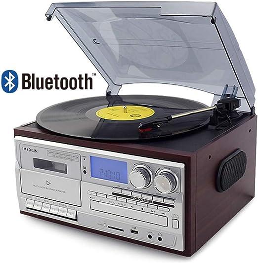 Reproductor de Discos de Vinilo Reproductor de CD y Tocadiscos ...