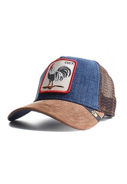 Gorra trucker marr/ón y denim gallo Big Strut de Goorin Bros.
