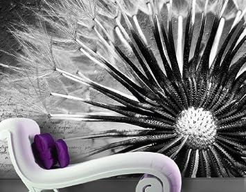 Fototapete schwarz weiß pusteblume  Fototapete Fototapeten Tapete Tapeten No.83