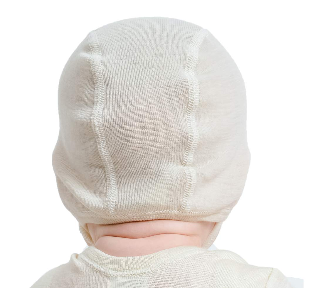 f1809206f22 Amazon.com  Pilot-Style Baby Cap in organic woo silk blend