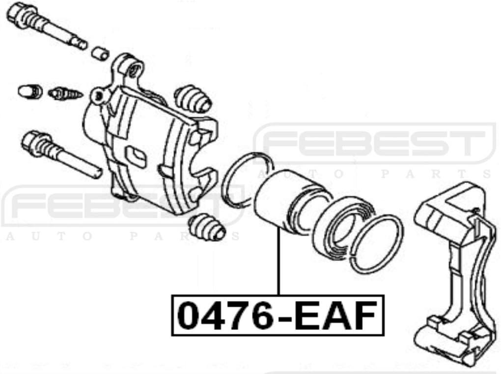 Cylinder Piston Febest 0476-EAF Oem MB699692 Front