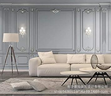 Golden relief box 3d stereo TV sfondo muro soggiorno divano ...