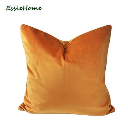 Amazon MAYUAN40 Decorative Pillows Essie Home Luxury Matte Impressive Bright Orange Decorative Pillows