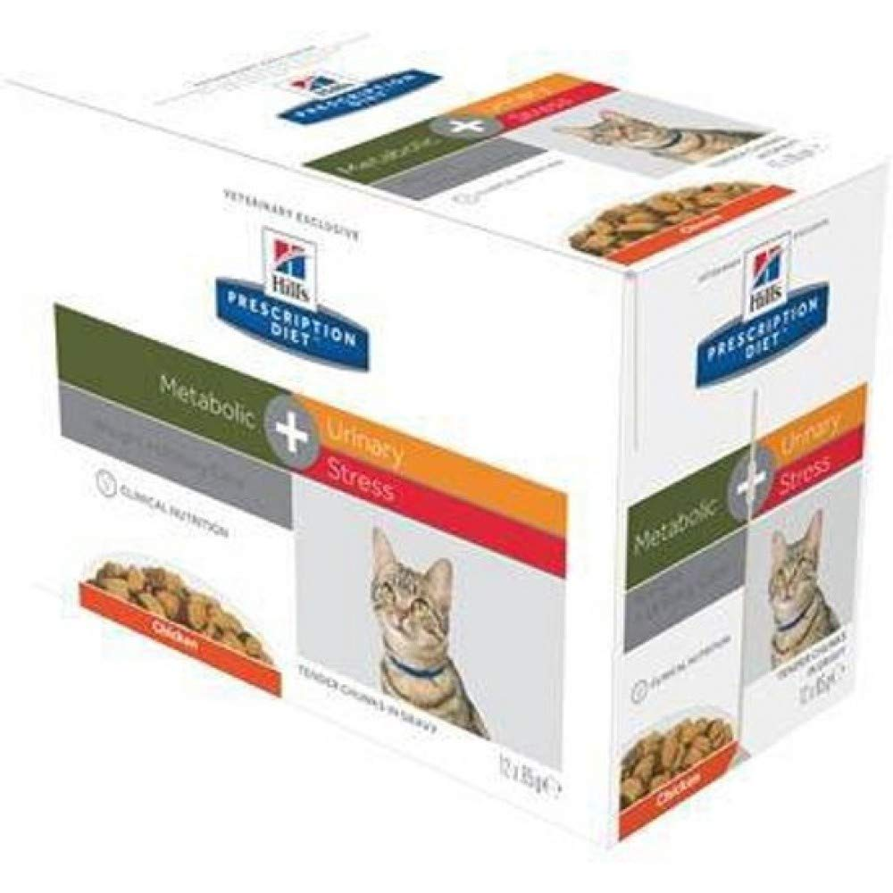 Hills Prescription Diet - Hills Prescription Diet Feline Metabolic Plus Urinary Stress - 12 x 85 g