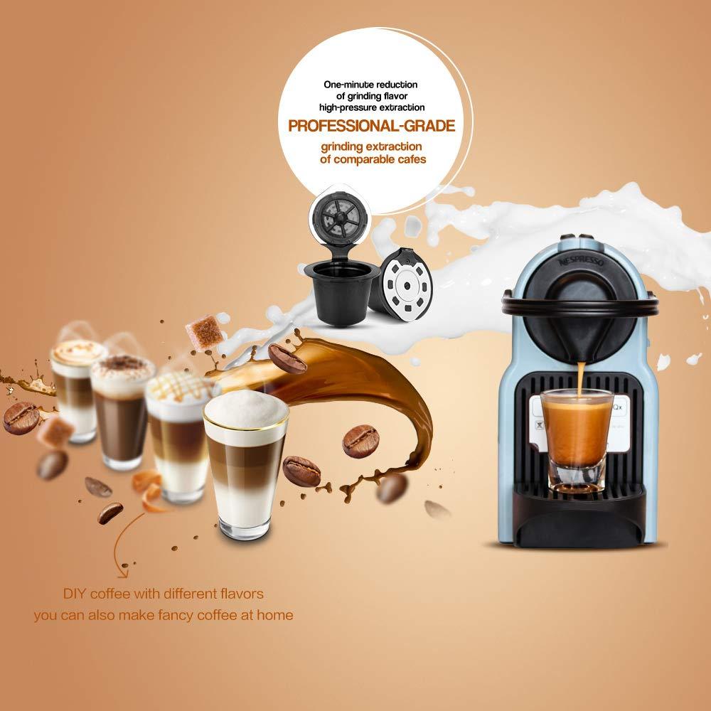 ALLOMN Cápsulas de Café Recargables Pods Cestas de Cápsulas Blandas Filtro de Café Reutilizable para Máquinas Nespresso: Amazon.es: Hogar